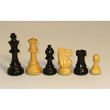 Chopra Boxwood French Knight Chess Pieces - Black and Natural (WWI058)