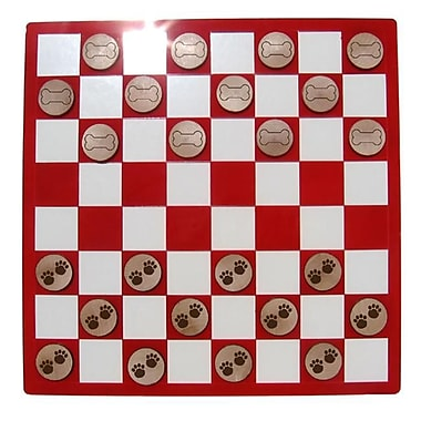 CAMIC designs Laser-Etched Pawprints vs. Dogbones Checkers Set (CAM354)