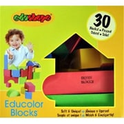 Edushape Educolor Blocks- Set Of 30 Kid-Safe Foam Blocks (EDUS419)