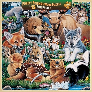 Masterpieces Forest Friends Fun Facts Kid's Puzzle- 48 Pieces (MSTRP041)