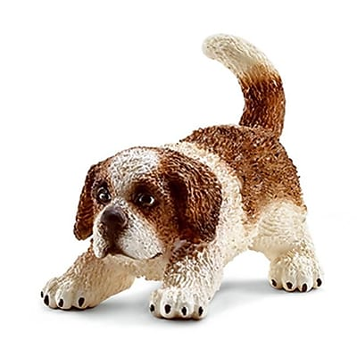 Schleich 16834 Saint Bernard Puppy Figurine, Brown & White (TRVAL42280) 2512507
