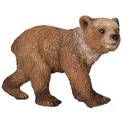 Schleich 14687 Grizzly Bear Cub Figurine, Brown (TRVAL42373) 2512492