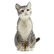 Schleich 13771 Cat Sitting Figurine, Black & White (TRVAL42291)