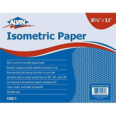 Alvin Isometric Paper 11x17-30 Shts (ALV3473)