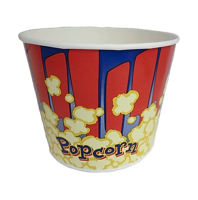 Gold Medal 2134RB 85 oz. Red and Blue Popcorn Cup, Paper, 300/Carton 20005021