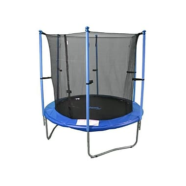 Upper Bounce 7.5 Ft Trampoline & Enclosure Set equipped with Upper Bounce Easy Assemble Feature (KS001)