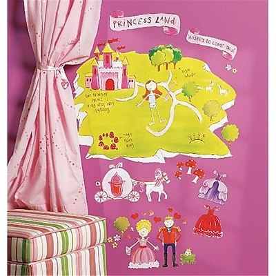 Wallies Wallcoverings Peel & Stick Wall Play Princess Land (WLWC050) 2513448