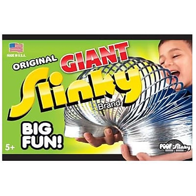 POOF-Slinky Metal Original Giant Slinky in Box Silver (POOF246) 2516336