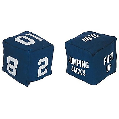 Olympia Sports Soft Blue Fitness Dice with Screen Printed Numbers (OSPS639P)
