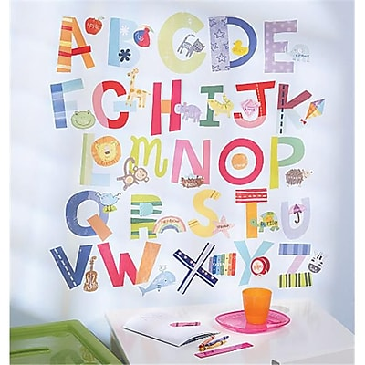Wallies Wallcoverings Peel & Stick Wall Play Alphabet Fun (WLWC048) 2516209