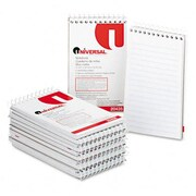 Universal Wirebound Memo Books Narrow Rule 3 x 5 White 12 50-Sheet Pads Pack (AZRUNV20435)
