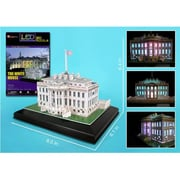 3D Puzzles White House 3D Puzzle with Base and Lights - 56 Pieces (DARON8825)