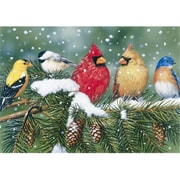White Mountain Puzzles Cardinals and Friends 550 Piece Puzzle (GC4578)