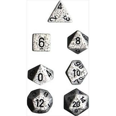 Chessex Manufacturing 25311 Arctic Camo Speckled Polyhedral Dice Set Of 7 (ACDD1851)