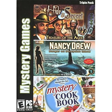 Viva Media 109873 Mystery Games Triple Pack -Hide & Secret, Nancy Drew & Mystery Cookbook (XS109873)