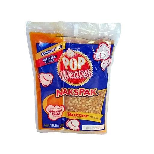 Weaver 104353 10.6 oz. NaksPak Popcorn Kit; 24/carton