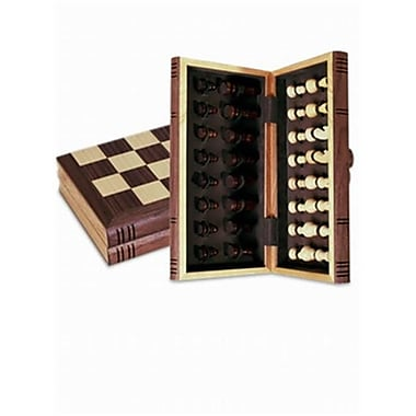 Sunnywood Wooden Folding Chess Set With Magnetic Closure - 12 Inch (SNWD098)