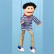 Sunny Toys 22 In. Black Haired Boy, Marionette People Puppet (SNTY440)