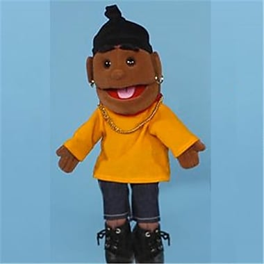 Sunny Toys 14 In. Ethnic Rapper Boy In Orange Top, Glove Puppet (SNTY065)