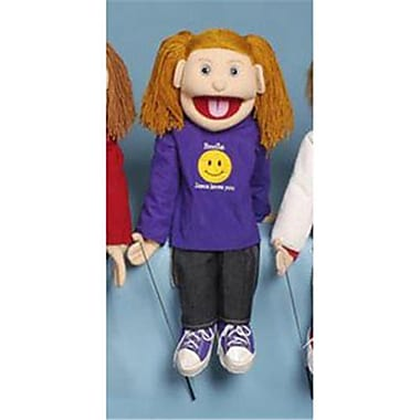 Sunny Toys 28 In. Strawberry-Haired Girl Smile, Jesus Loves You, Full Body Puppet (SNTY597)