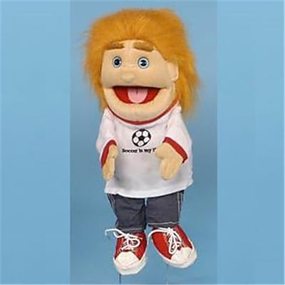 Sunny Toys 14 In. Blonde-Haired Boy Soccer,