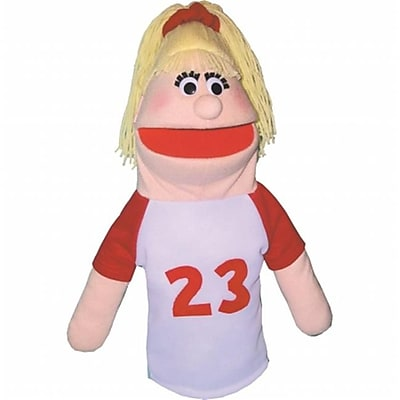 Get Ready athletic girl puppet- African-American- 18