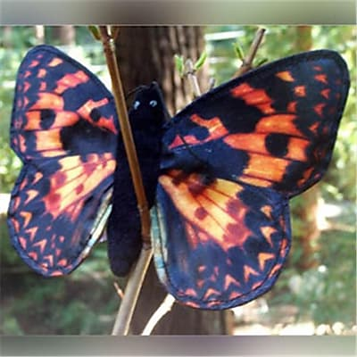 Sunny Toys 8 In. Finger Butterfly Painted