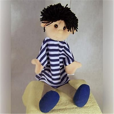 Sunny Toys 12 In. Black Haired Boy,