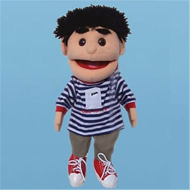 Sunny Toys 14 In. Black-Haired Boy Good For Life, Glove Puppet (SNTY095)