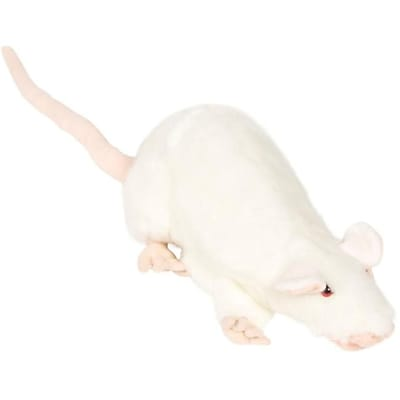 Sunny Toys 13 In. Rat - White,