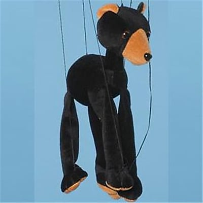 Sunny Toys 16 In. Baby Bear - Black, Marionette Puppet (SNTY493)