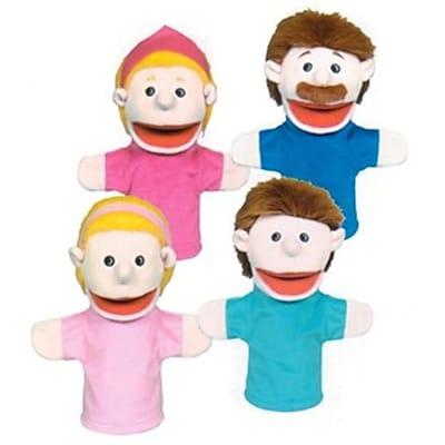 Get Ready Caucasian family puppet set- 10