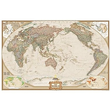 National Geographic World Executive - Pacific Centered - Enlarged Map (NGS678)