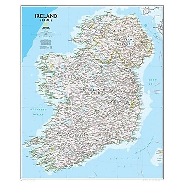 National Geographic Maps Ireland Classic Wall Map (NAGGR299)