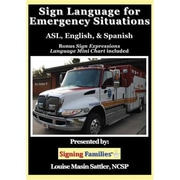 Harris Communications Sign Language for Emergency Situations - ASL, English & Spanish DVD (HRSC887)