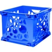Storex Mini Stackable Storage Crate - Blueberry (SSPC58536)