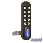Salsbury Electronic Lock For Designer Wood Storage Cabinet Door - Black (SBRI6360)