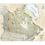 National Geographic Maps Canada Executive Wall Map - Laminated (NAGGR305)