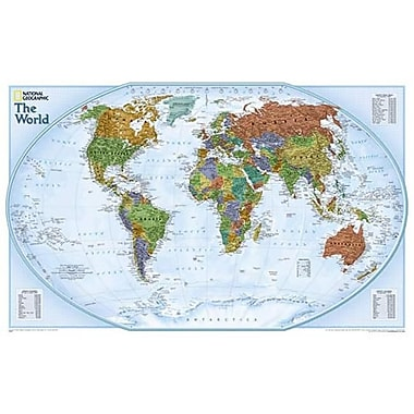 National Geographic World Explorer - Tubed Map (NGS273)