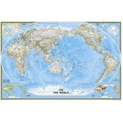 National Geographic World Classic - Pacific Centered - Laminated Map (NGS638)