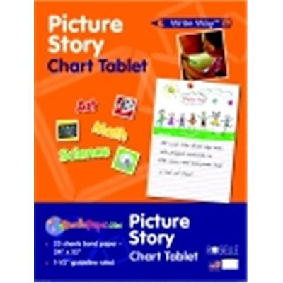 Write Way 24 x 32 in. Roselle Picture Story Chart Tablet, 25 Sheets (SSPC51831)
