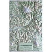 Hubbard Scientific Raised Relief Map Mt. Rainier National Park (AMED1935)