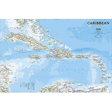 National Geographic Maps Caribbean Classic Wall Map (NAGGR318)
