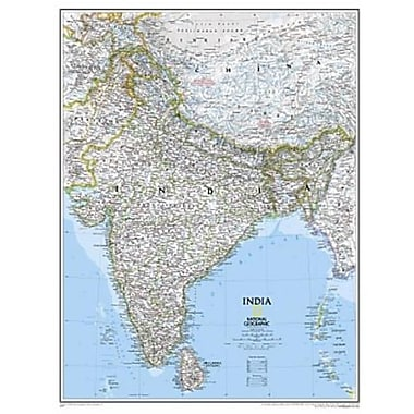 National Geographic Map Of India - Tubed (NGS505)