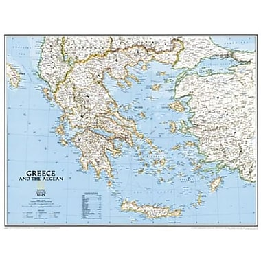 National Geographic Map Of Greece - Tubed (NGS503)