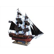 Handcrafted Model Ships Caribbean Pirate Ship Limited 26 in. - Black Sails Decorative Model Pirate Ships (HDFM2216)