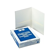 Oxford Twin Portfolio Folders, White, 25/Box (OXF 57504)