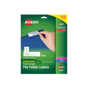 "Avery Laser/Inkjet File Folder Labels, 15/16"" x 3 7/16"", White, 18/Sheet, 25 Sheets/Pack (8425)"