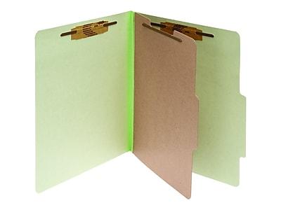 ACCO Pressboard Classification Folders, Letter Size, 1 Divider, Leaf Green, 10/Pack (A7015044)