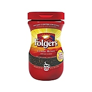 Folgers Classic Roast Instant Coffee, Medium Roast (SMU20629)